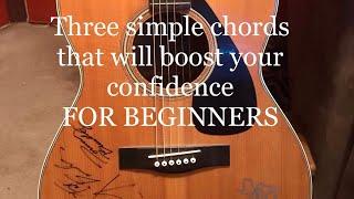 3 easy chords E minor Asus2 Dsus2