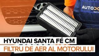 Cum se inlocuiesc filtru de aer motor pe HYUNDAI SANTA FÉ CM TUTORIAL | AUTODOC