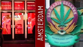 Amsterdam Red Light District, Cannabis Coffee Shop, Bulldog Weed  Shop