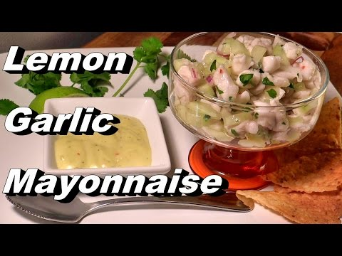You Will Never Buy from the Store Again:) Lemon Garlic Mayonnaise Recipe (Weekly Prep)