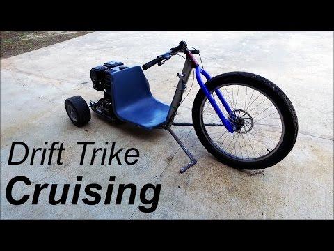 Drift Trike Seat, Pegs, and Cruising