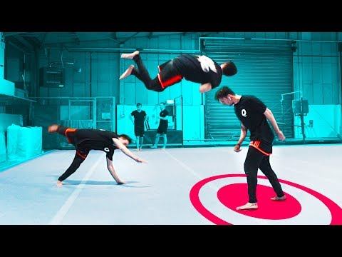 Insane Flip Trick Shots!