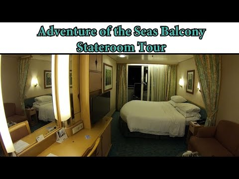 2018 Adventure of the Seas Balcony StateRoom Tour,  Royal Caribbean In Depth 6322