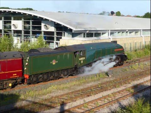 L.N.E.R. A4 60009 Union of South Africa arriving N.R.M. Shildon 18/7/16