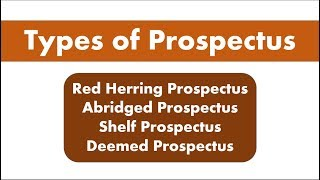 Lecture 10: Types of Prospectus for SEBI Grade A