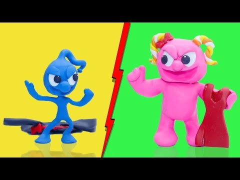 CLAY MIXER: WEIGHT GAIN AND LOSS INSANE WORKOUT 馃挅 Play Doh Cartoons For Kids