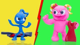 CLAY MIXER: WEIGHT GAIN AND LOSS INSANE WORKOUT 💖 Play Doh Cartoons For Kids