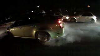 351 Mustang vs Camaro, K20 EK vs Cadillac, 4v vs Cadillac, Audi S3 vs Evo & 2015 STI  + COPS