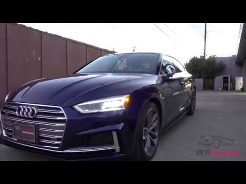 2018 audi s5 sportback navarra blue ppf front end and. Black Bedroom Furniture Sets. Home Design Ideas