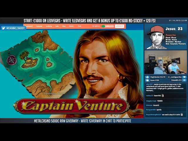 Captain Venture BIG WIN - RETRIGGERS!! Whats your max spins on this??