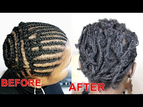 TAKING OUT 2 MONTH OLD CORNROWS