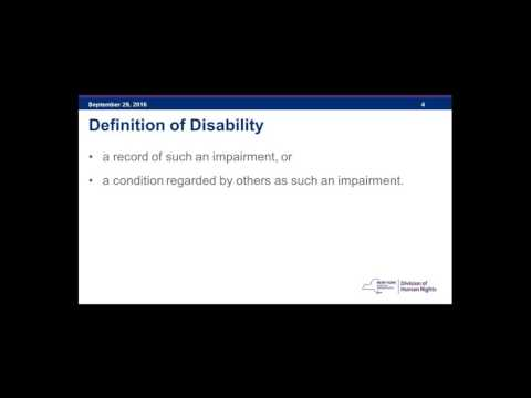 Discrimination Based on Disability