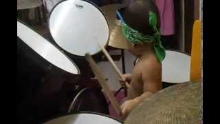 Big Drums- Little Baby ,1 year old,Rolling,lets Rock N' Roll Kids Thumbnail