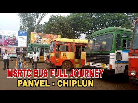 PANVEL TO CHIPLUN : MSRTC BUS FULL JOURNEY THROUGH KONKAN | MUMBAI GOA HIGHWAY