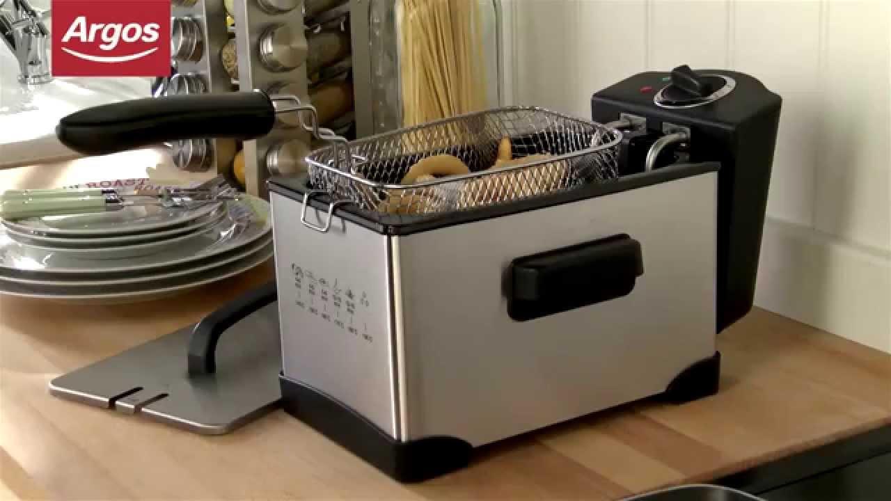 Argos Value Range Stainless Steel Pro Deep Fat Fryer