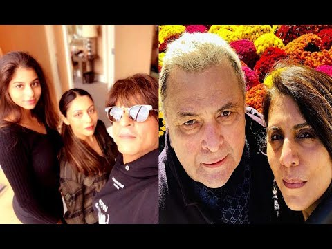 Shah Rukh Khan pays a visit to Rishi Kapoor in NYC with Gauri, Suhana Mp3