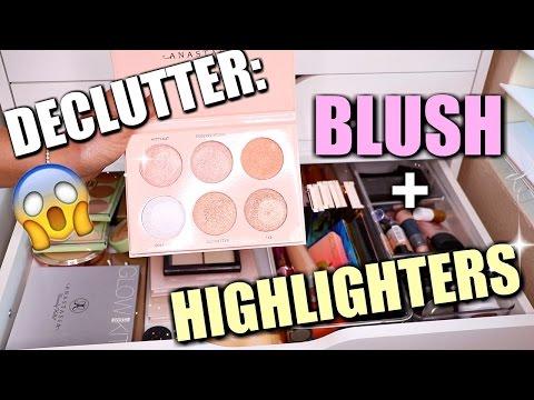 DECLUTTER: BLUSH + HIGHLIGHTERS!