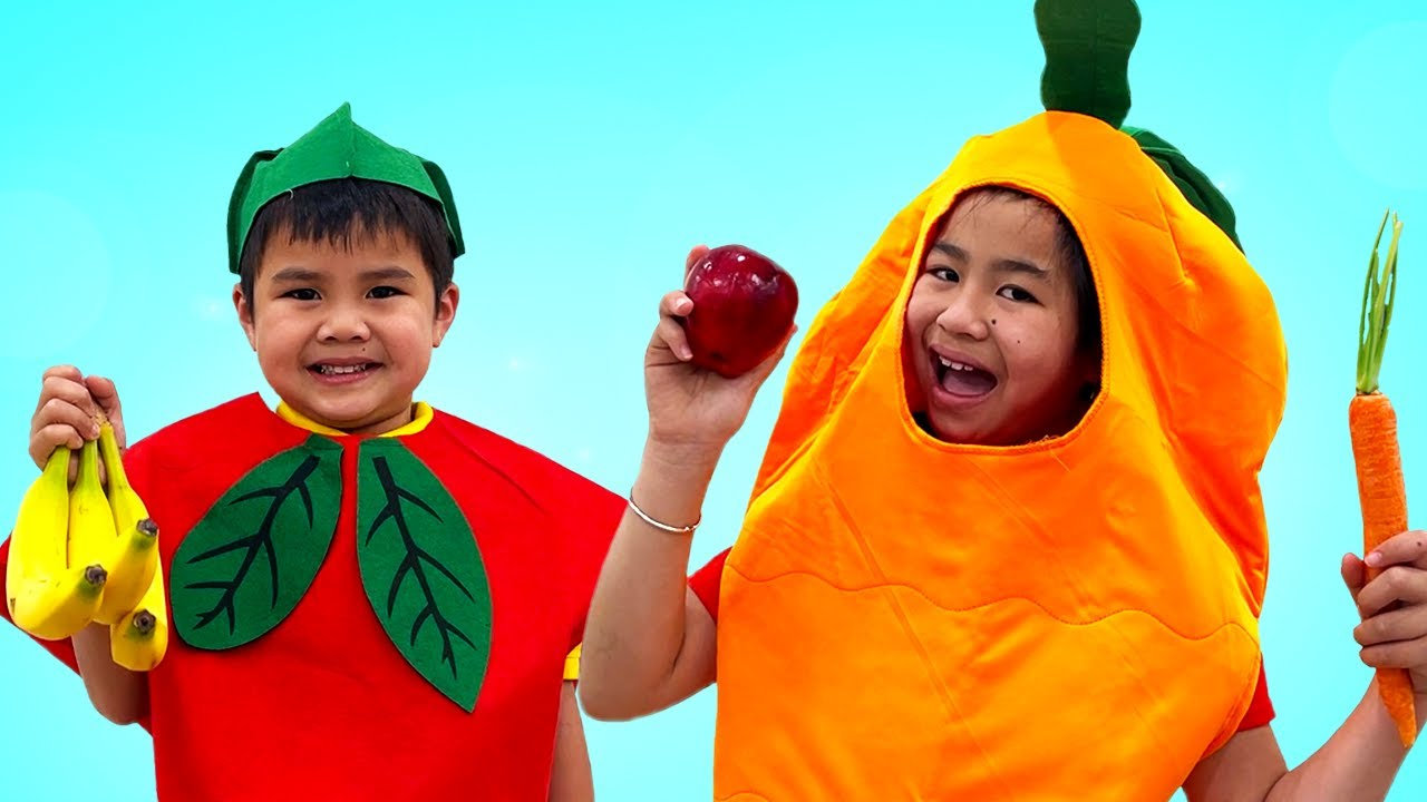 Yummy Fruits & Vegetables Song | Jannie Toys and Colors Nursery Rhymes & Kids Songs