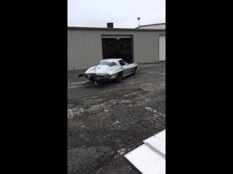Johnny cooks 66 Corvette drag car