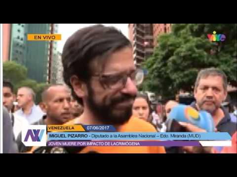 Declaraciones del diputado Pizarro al conocer muerte de Neomar Lander