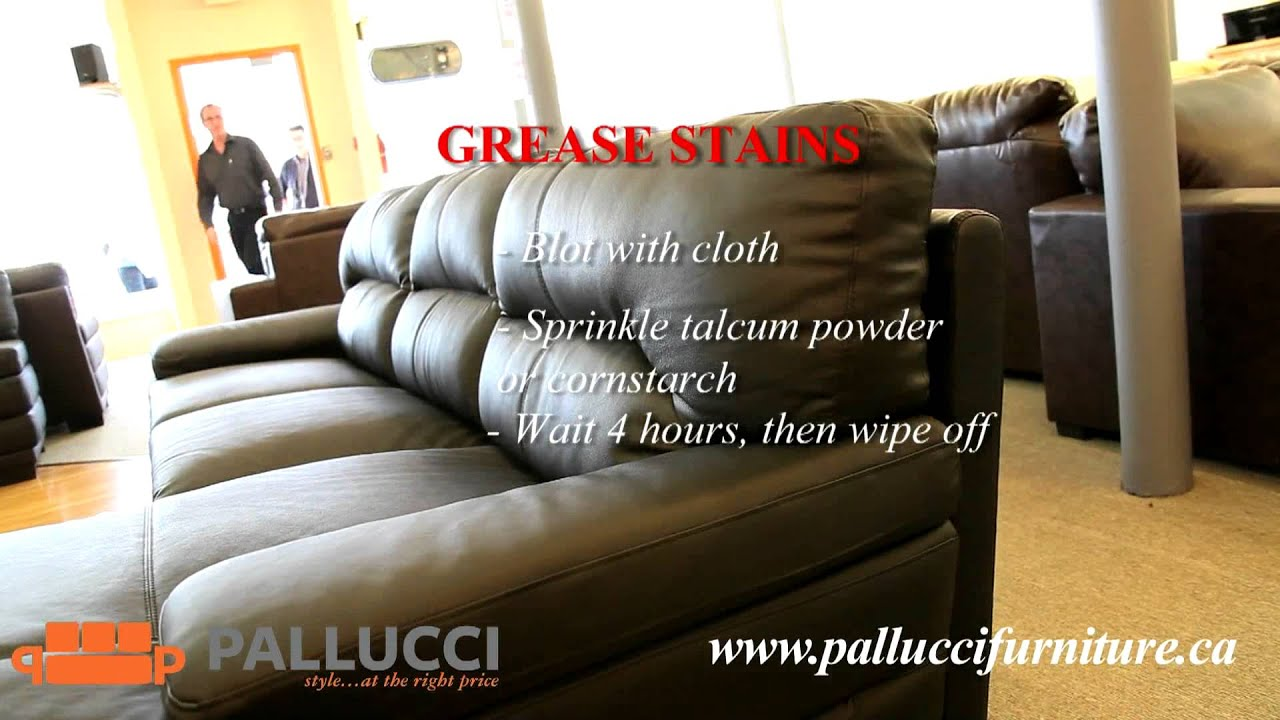 how to clean stains on fabric sofa store nashville remove from a leather couch youtube