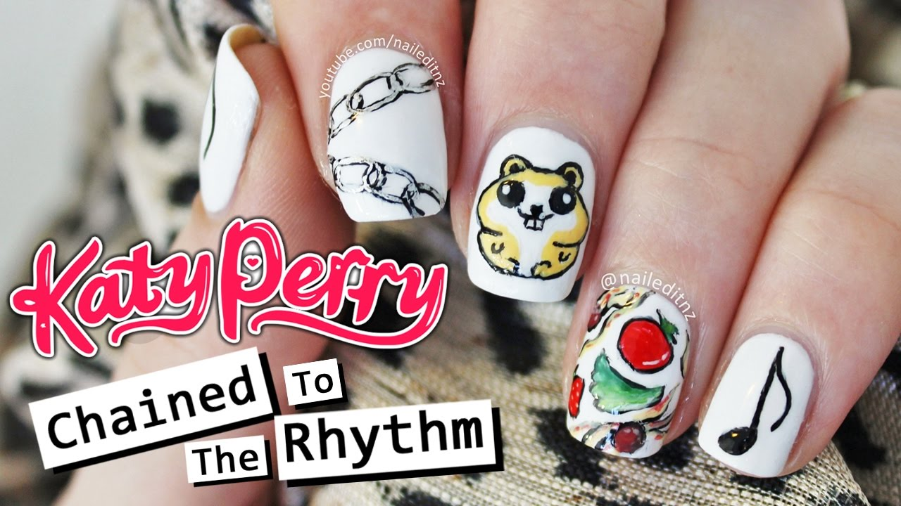 Katy Perry ft. Skip Marley - CHAINED TO THE RHYTHM NAIL ART | Nailed ...