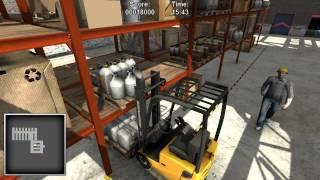 Warehouse & Logistics Sim (Forklifter 2014) Pt 2 High Bay Warehouse (forklift Sim Game)