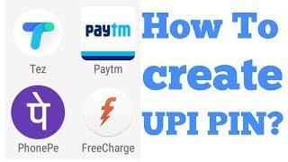 How To Create BANK UPI PIN?
