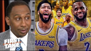 FIRST TAKE | Stephen A. NO WAY Heat get back as loss Lakers game 1, LeBron-AD 'best player in world'