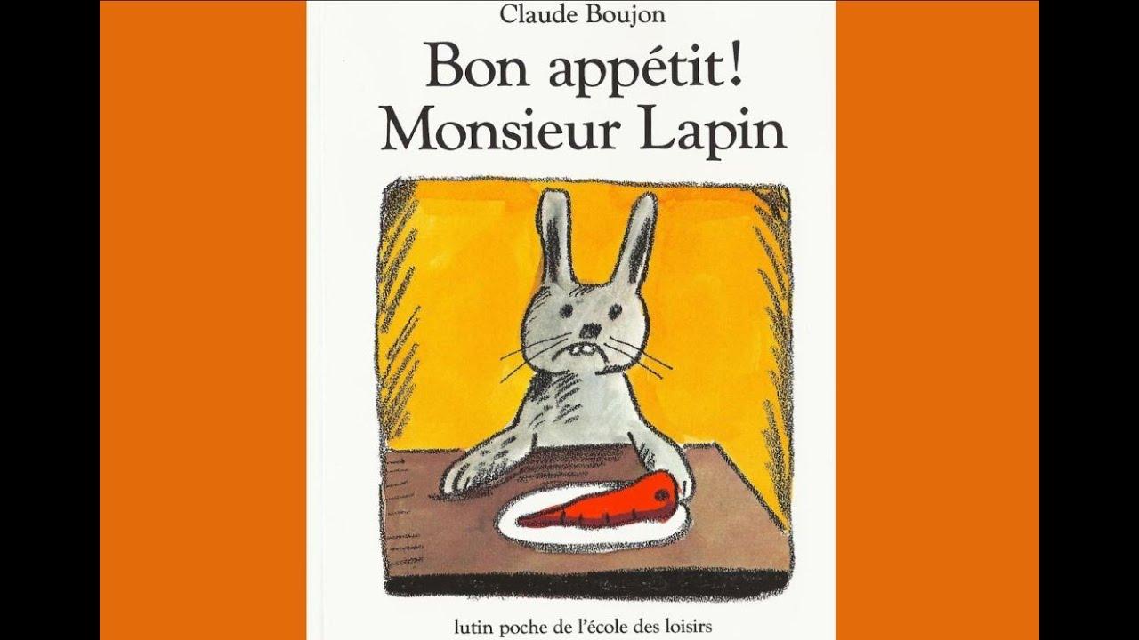 Download Bon appétit Monsieur Lapin - Claude Boujon   lecture pour enfants  - livre maternelle - maitre Ludo