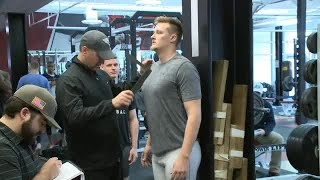 Nick Ferrer full interview from BSU pro day on 4/4/18