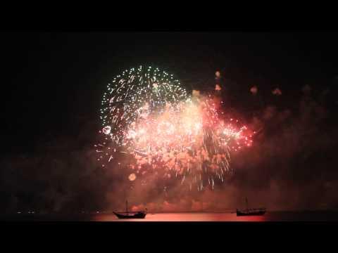NATIONAL DAY DOHA QATAR FIRE WORKS DISPLAY 2013