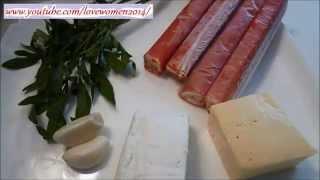 Рецепты из крабовых палочек. Фаршированные крабовые палочки, рецепт.
