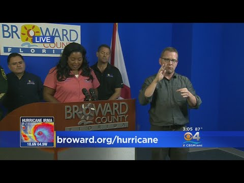Broward County Mayor Gives Update On Hurricane Irma Preps