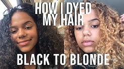 I DYED MY NATURALLY CURLY HAIR BLONDE - creme of nature hair dye | Tawana