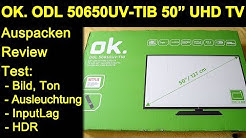"OK. ODL 50650 UV-TIB 50"" 4K UHD TV - Auspacken Review Test Bild Ton MediaPlayer Menü InputLag"