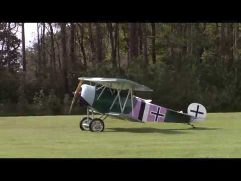 Fokker D.VI Engine Start - Flight - Taxi