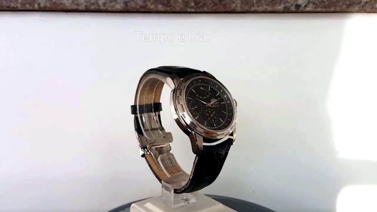29bc131b2f4 Relógio Orient Automático Edição Limitada Comemorativo 35 anos Orient no  Brasil modelo 46HLE001