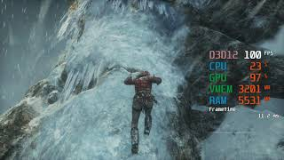 GeForce RTX 2060 -- AMD Ryzen 5 2600 -- Rise of the Tomb Raider ROTTR FPS Test