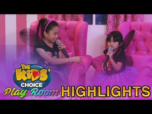 The Kids' Choice PH Play Room: Kaycee and Rachel enjoy the fascinating aspect of echo
