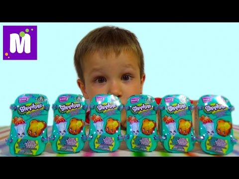 Шопкинс корзинки сюрпризы с игрушками распаковка Shopkins