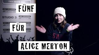 Fünf für Alice Merton - das Interview ohne Fragen