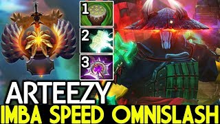 ARTEEZY [Juggernaut] Imba Speed Omnislash Unreal Damage 7.22 Dota 2