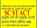 SC ST ACT 1989  scheduled caste and scheduled tribes (prevention of atrocities)  FOR MPPSC MAIN EXAM