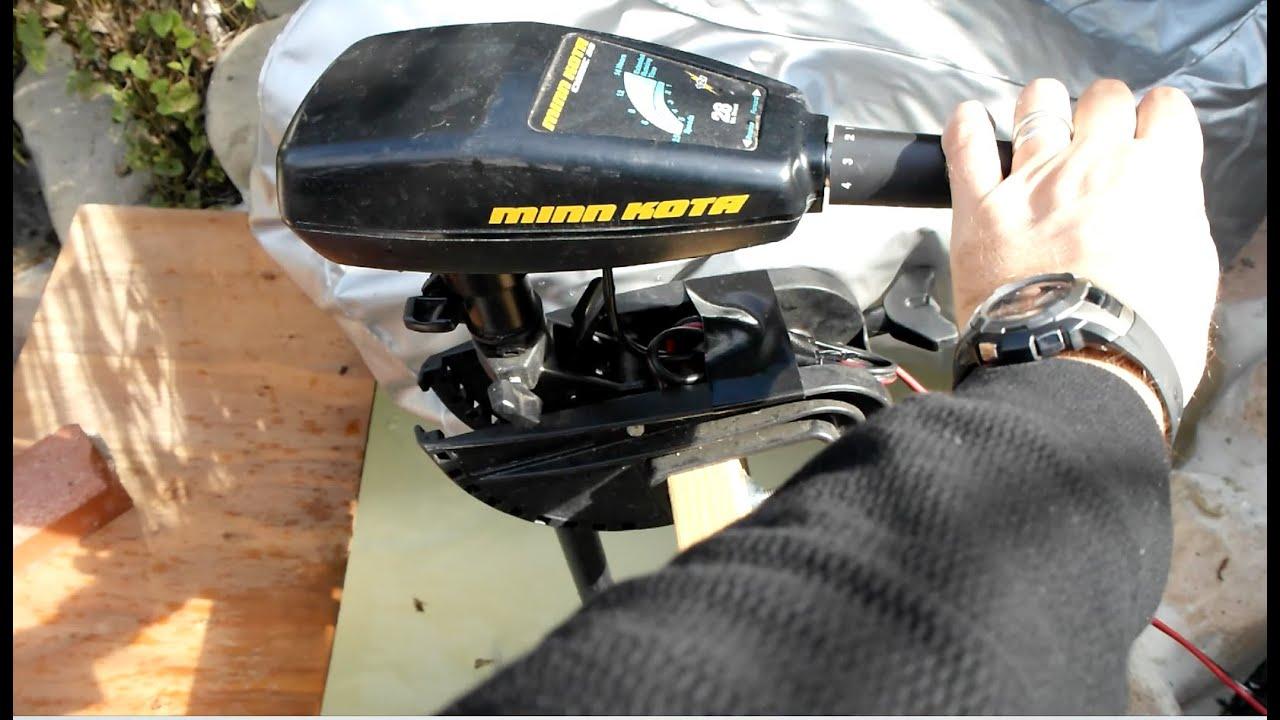 Minn kota outboard electric boat motor test youtube for Minn kota electric outboard motors
