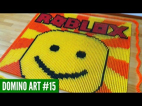 HUGE ROBLOX ART MADE FROM 6,000 DOMINOES | Domino Art #15