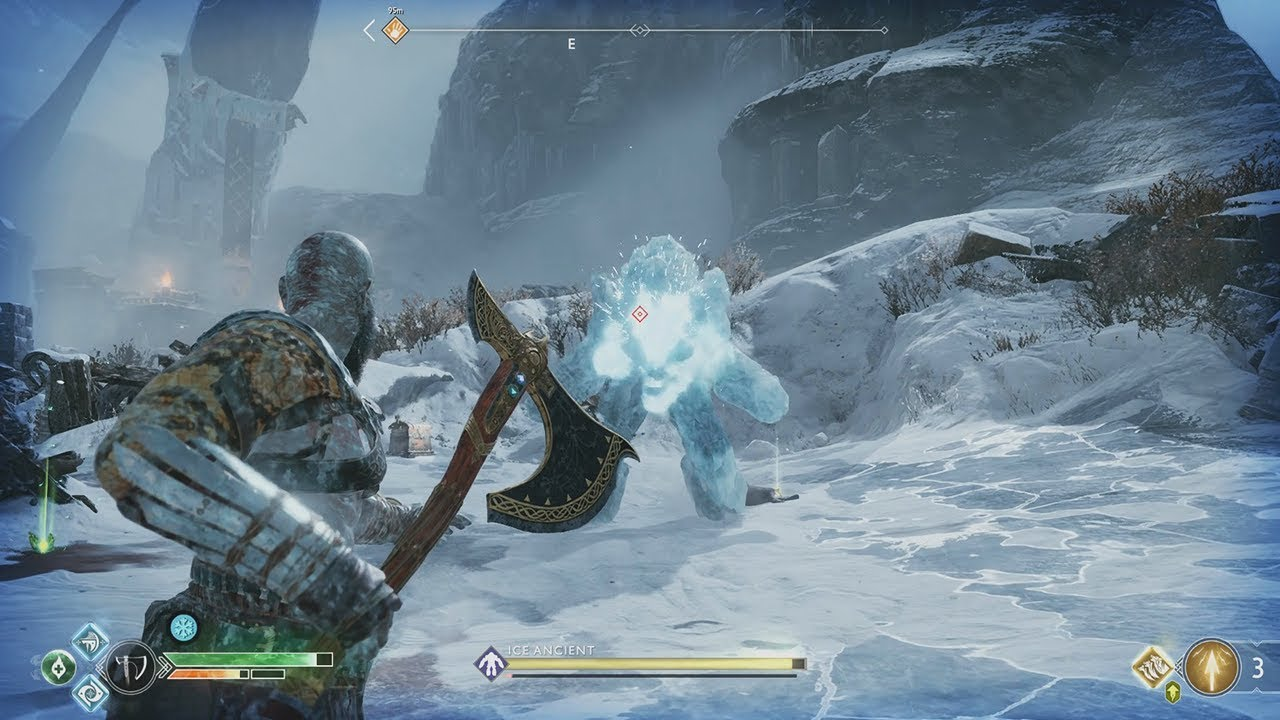 Of War 4 Ice Ancient Boss Fight
