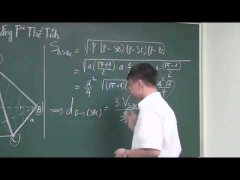 Tính khoảng cách từ một điểm đến một mặt phẳng bằng phương pháp thể tích   Thầy Phạm Quốc Vượng