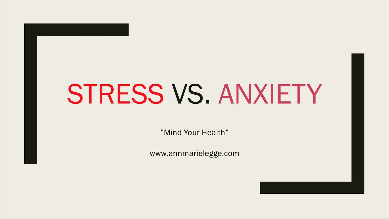 how to help stress and anxiety