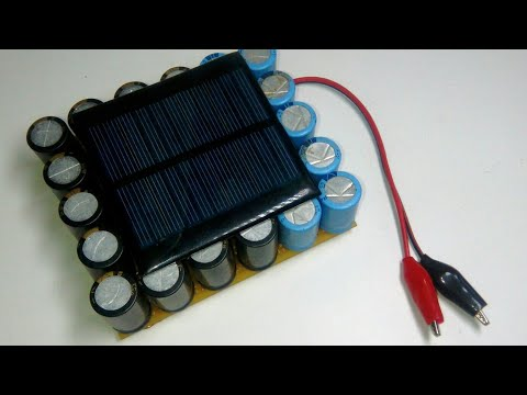 Solar inverter without battery using capacitor bank